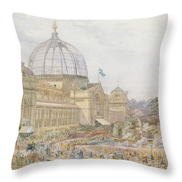 International Exhibition Throw Pillow by Edward Sheratt Cole