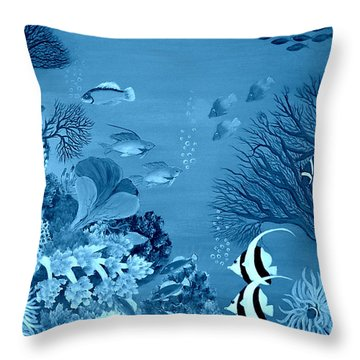 Into The Blue Yonder Throw Pillow by Fram Cama