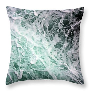 Into The Deep Throw Pillow by Kristin Elmquist