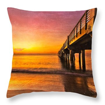 Into The Light Throw Pillow by Debra and Dave Vanderlaan
