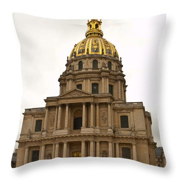Invalides Paris France Throw Pillow by Jon Berghoff