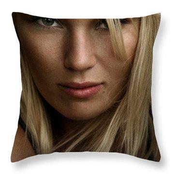 Iris Throw Pillow by Silvio Schoisswohl