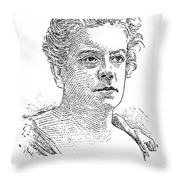 Isabel Florence Hapgood Throw Pillow by Granger