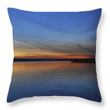 Island Heights At Dusk Throw Pillow by Terry DeLuco
