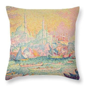 Istanbul Throw Pillow by Paul Signac