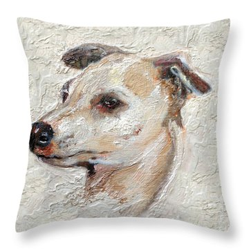 Italian Greyhound Throw Pillow by Enzie Shahmiri