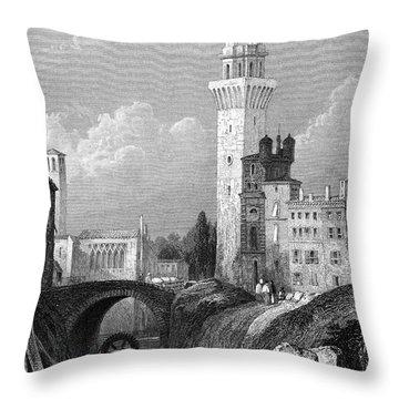 Italy: Padua, 1833 Throw Pillow by Granger