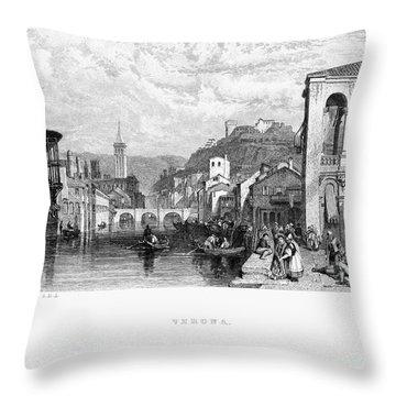 Italy: Verona, 1833 Throw Pillow by Granger