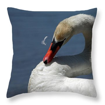 Its Like Pulling Hair Throw Pillow by Karol Livote