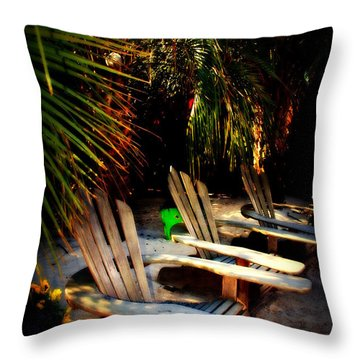 Its Margarita Time In Paradise Throw Pillow by Susanne Van Hulst