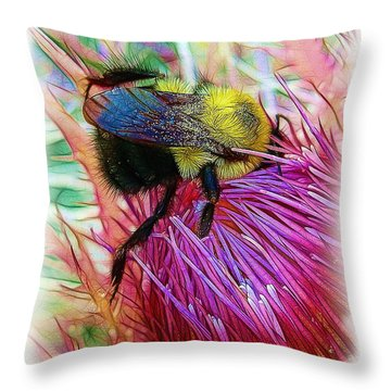 I've Fallen Into A Thistle And I Can't Get Out Throw Pillow by Judi Bagwell