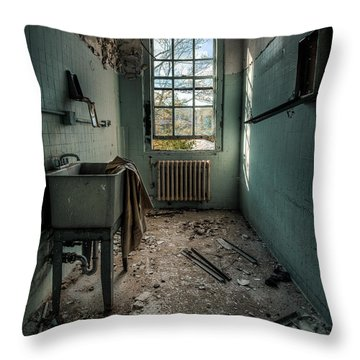 Janitors Closet Throw Pillow by Gary Heller
