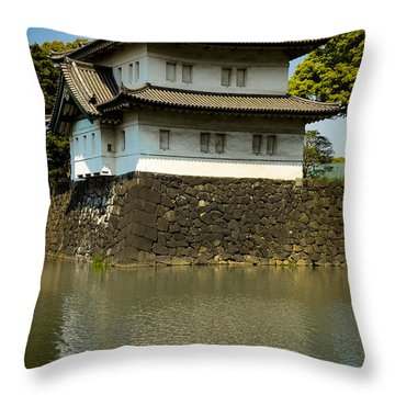 Japan Castle Throw Pillow by Sebastian Musial