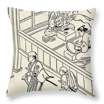 Japan: Samurai, 1700 Throw Pillow by Granger