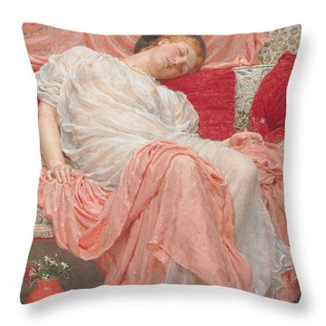 Jasmine Throw Pillow by AJ Moore