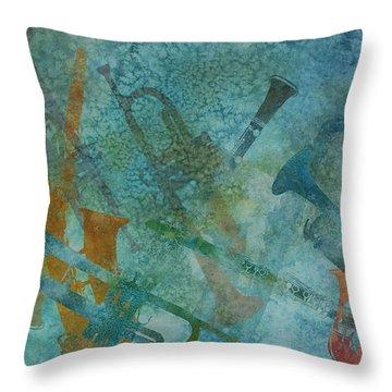 Jazz Improvisation One Throw Pillow by Jenny Armitage