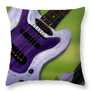 Jazz Throw Pillow by Mark Moore