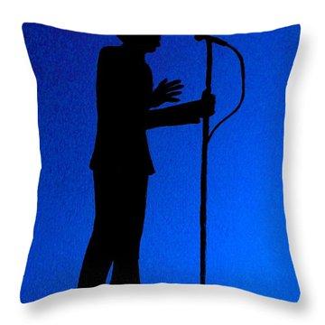 Jazz Singer Throw Pillow by Julie Brugh Riffey