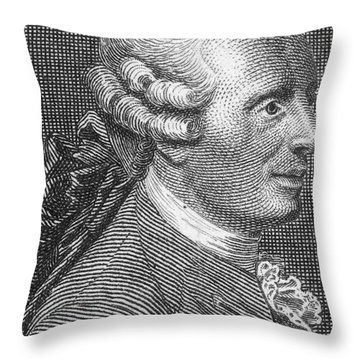 Jean Le Rond Dalembert, French Polymath Throw Pillow by Science Source