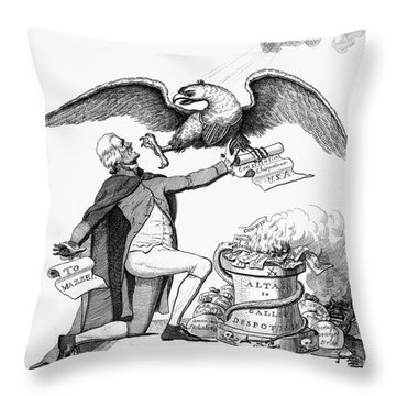 Jefferson: Cartoon, 1800 Throw Pillow by Granger