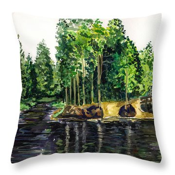 Jersey Pines Throw Pillow by Clara Sue Beym