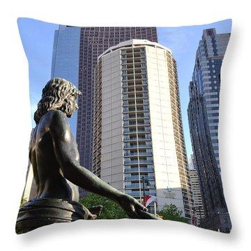 Jesus Of Philadelphia Throw Pillow by Bill Cannon
