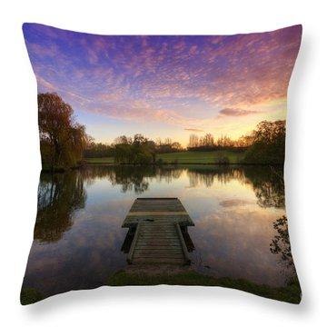 Jetty Sunrise 4.0 Throw Pillow by Yhun Suarez