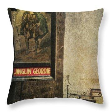 Jinglin' Geordie Throw Pillow by Marion Galt