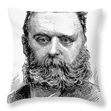 Johann Joseph Most Throw Pillow by Granger