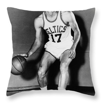 John Havlicek (1940- ) Throw Pillow by Granger