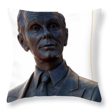 Johnny Carson Throw Pillow by Jeff Lowe