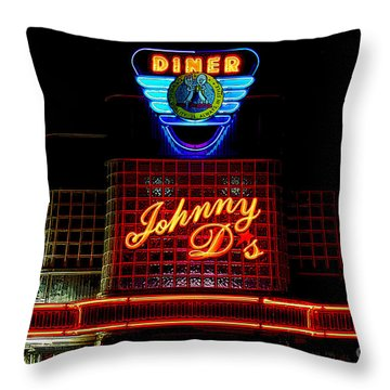Johnny D's Throw Pillow by Guy Harnett