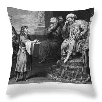 Joseph Interpreting Dream Throw Pillow by Granger
