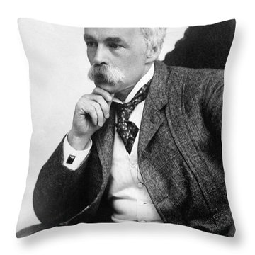 Julian Hawthorne (1846-1934) Throw Pillow by Granger