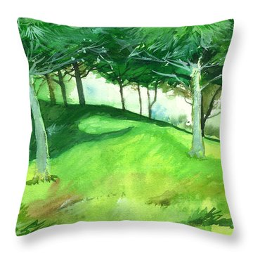 Jungle 2 Throw Pillow by Anil Nene