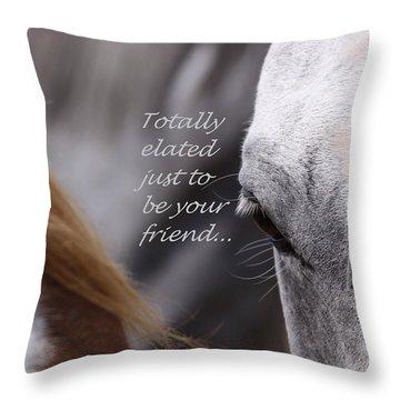 Just Friends Throw Pillow by Travis Truelove
