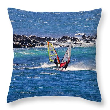 Just Passing By Throw Pillow by Mike  Dawson