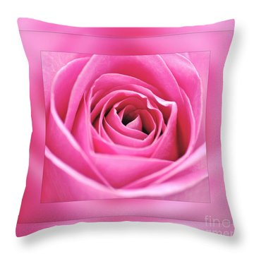 Just Pink Throw Pillow by Kaye Menner