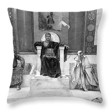 Justinian I (483-565) Throw Pillow by Granger