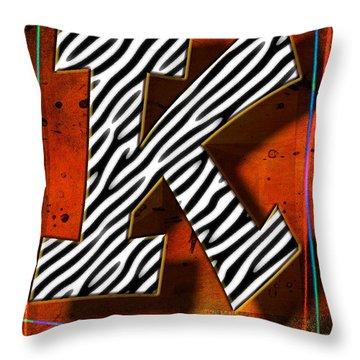 K Throw Pillow by Mauro Celotti