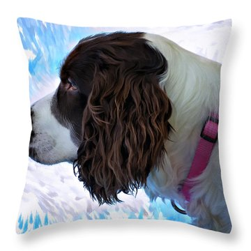 Kaya Paint Filter Throw Pillow by Steve Harrington