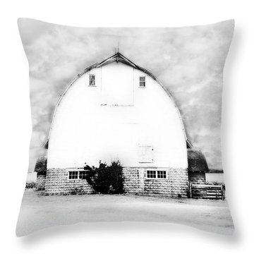 Kays Barn Throw Pillow by Julie Hamilton