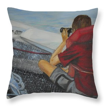 Keeping Watch Throw Pillow by Joyce Reid