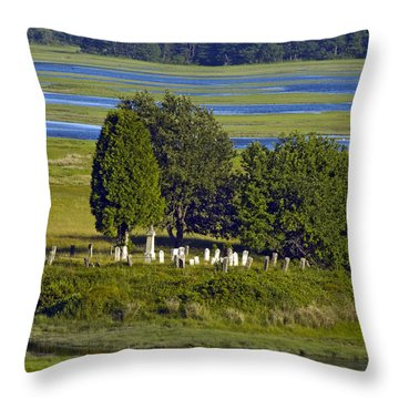 Kennebunkport Farmhouse Graves Throw Pillow by Dave Saltonstall