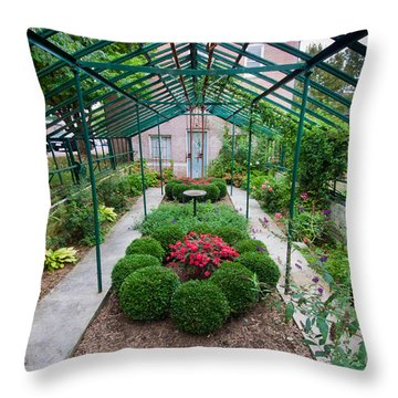Kentlands Greenhouse Throw Pillow by Thomas Marchessault