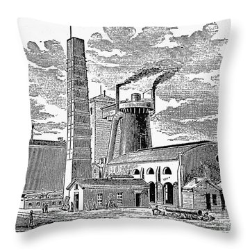 Kentucky: Factory, 1876 Throw Pillow by Granger