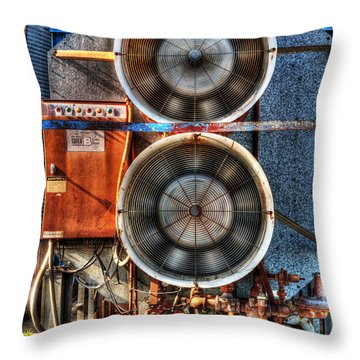 Kinetic Energy Throw Pillow by William Fields