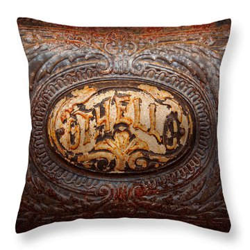 Kitchen - Oven - Careful It's Hot Throw Pillow by Mike Savad