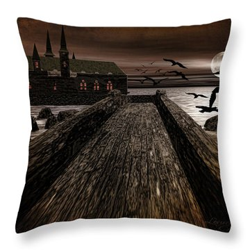 Knight's View Throw Pillow by Lourry Legarde