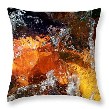 Koi Oasis Throw Pillow by Elizabeth Hart